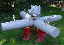 Vierfach-Wippgerät Elefant