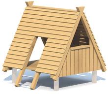 Holz-Zelt