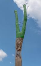 Pfostenkopf Waldgeist mit Astgabel
