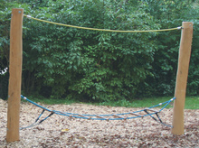 Strickleiter waagerecht 3m mit Halteseil