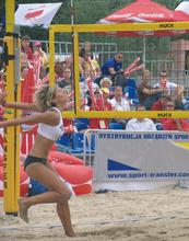 Volleyball-Anlage mit Nylonnetz