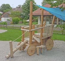 Heuwagen mit Holzrädern