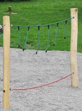 Balancierseil 3m, Halteseil mit senkrechten Seilen
