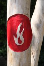 Pfostenmotiv Feuer, Erde, Luft oder Wasser