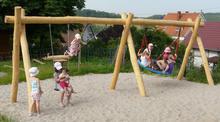 Schaukel-Nestkorb-Kombi 2-fach LH210cm