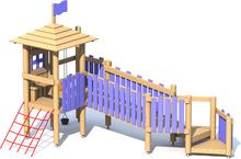 Spielburg Kleine Strolche mit Holzsteg